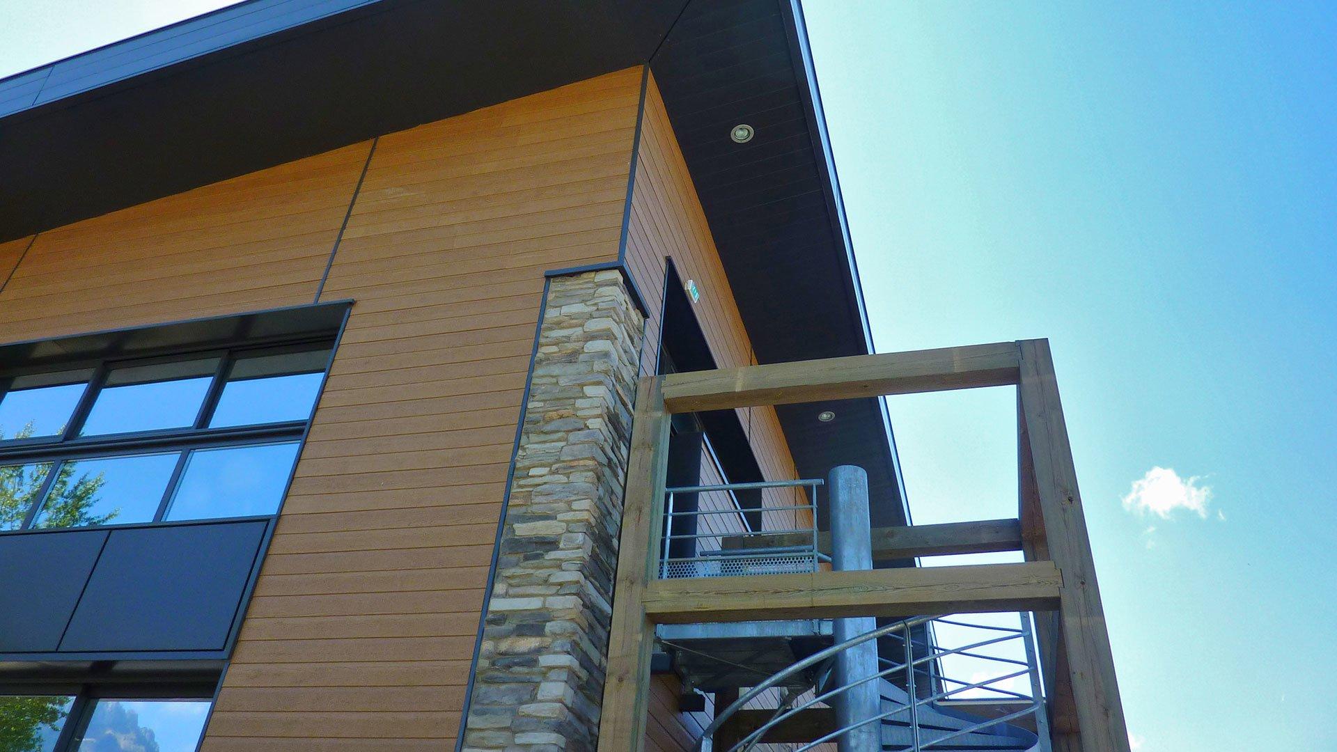 canexel bardage bois couleur yellowstone