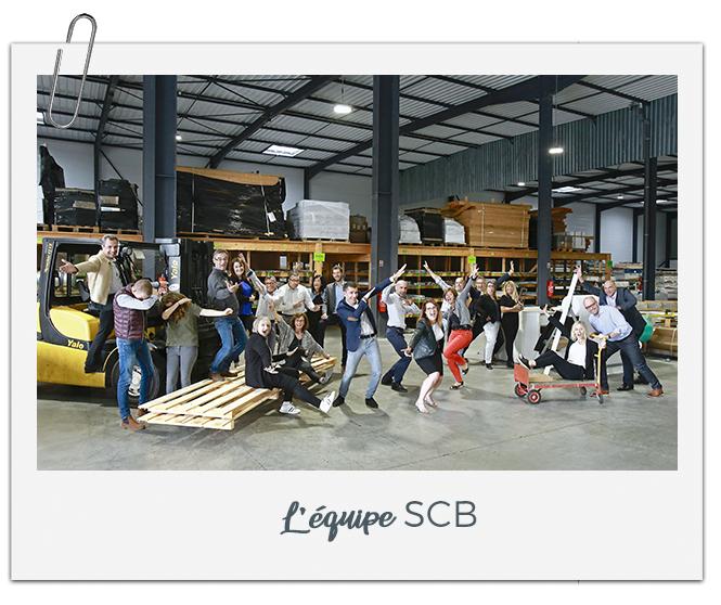 L'équipe de la société SCB près d'Orléans