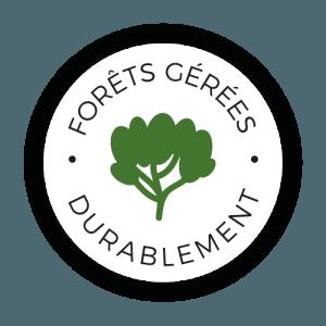 Bardage issu de forêts générées durablement