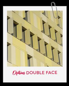 Les panneaux Swisspearl : Option double face