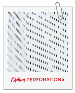 Option de panneaux : perforations